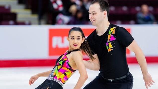 Pier-Alexandre Hudon et Gabrielle Lévesque lors d'une performance
