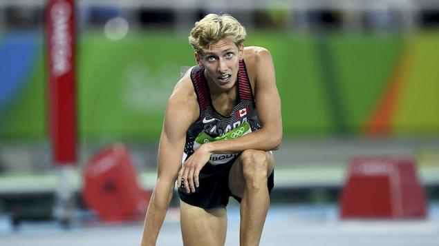 L'athlète canadien Charles Philibert-Thiboutot aux Jeux olympiques d'été de Rio