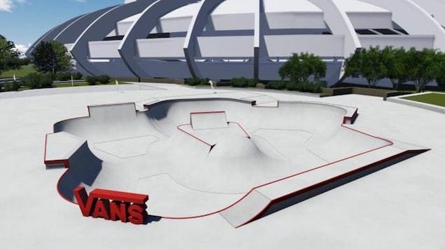 Le nouveau planchodrome sera inauguré les 12 et 13 juillet prochains au cours d'une étape de la série professionnelle Vans Park.