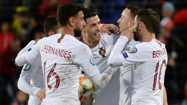 Des joueurs de soccer portugais