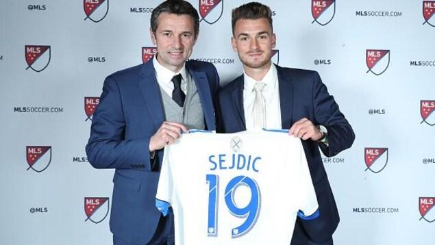 Rémi Garde avait accueilli Amar Sejdic au sein de la famille de l'Impact au repêchage de la MLS, le 11 janvier dernier.