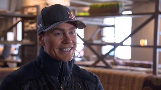 Erik Guay en entrevue avec Radio-Canada Sports
