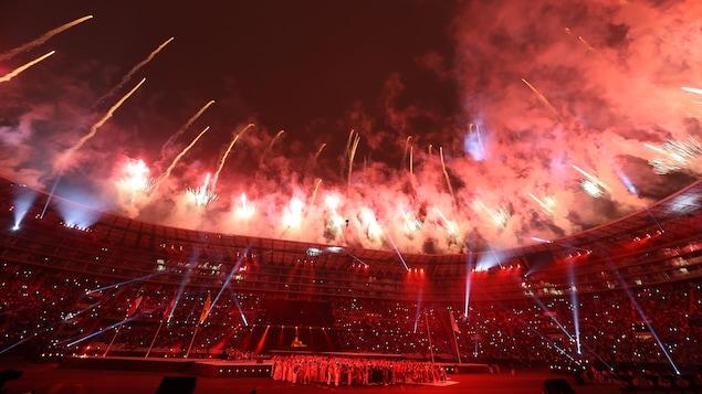 Le stade national de Lima lors de la cérémonie de clôture des Jeux panaméricains