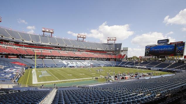 Le stade Nissan, domicile des Titans du Tennessee, à Nashville