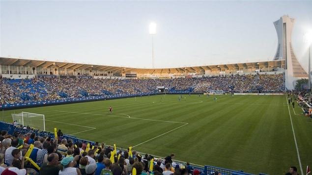 Vue générale du stade pendant un match