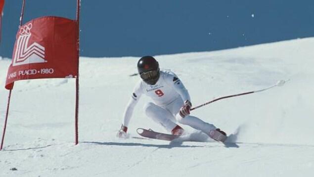 Steve Podborski sur le parcours olympique de Lake Placid
