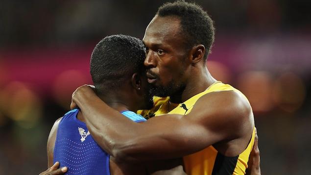 Justin Gatlin et Usain Bolt