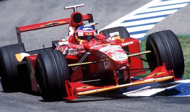 Jacques Villeneuve en Allemagne en 1998 dans la Williams FW20