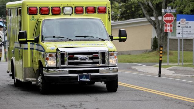 Une ambulance à Lévis.