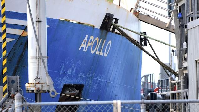 La coque du navire Apollo.