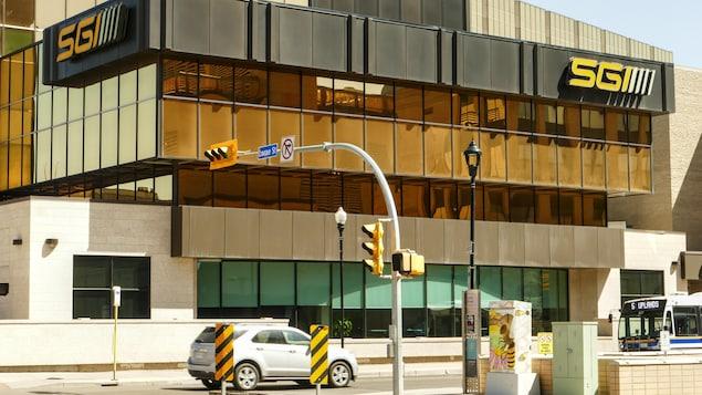 Un immeuble de la Société d'assurances de la Saskatchewan.