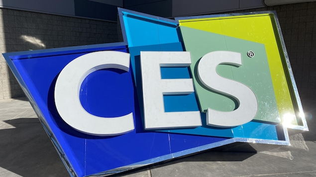 Image du logo coloré du CES lors de l'événement en 2020.