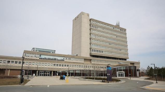 Un bâtiment de l'Université Laurentienne.