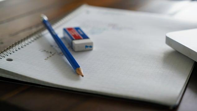Cahier d'école.