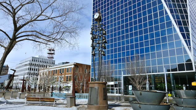 Des bâtiments au centre-ville de Regina.