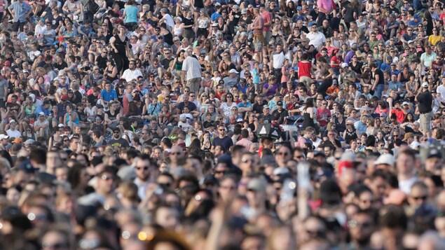 Une foule dense lors du Festival d'été de Québec en 2019.