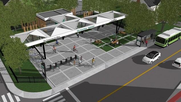 Illustration du projet de station vélo.