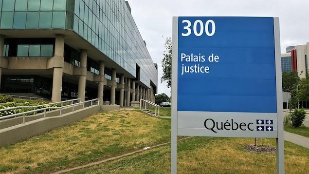 L'extérieur du palais de justice de Québec
