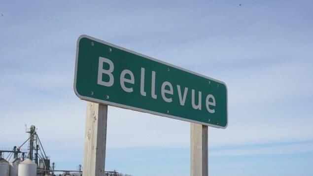 L'enseigne du village de Bellevue.