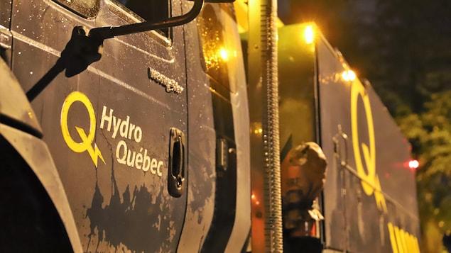 Camion d'Hydro-Québec.