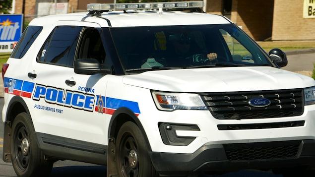 Voiture appartenant à la police de Regina (archives).
