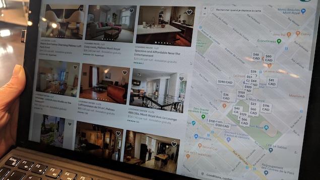 Un ordinateur avec Airbnb.