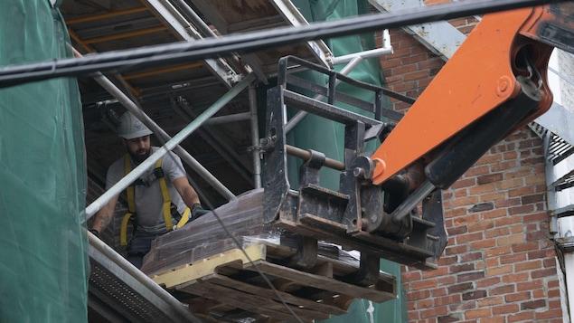 Travaux de rénovation en cours à Montréal