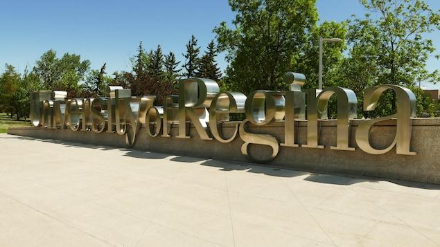 Entrée de l'Université de Regina.