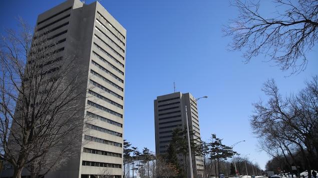 Deux immeubles de l'Université Laval