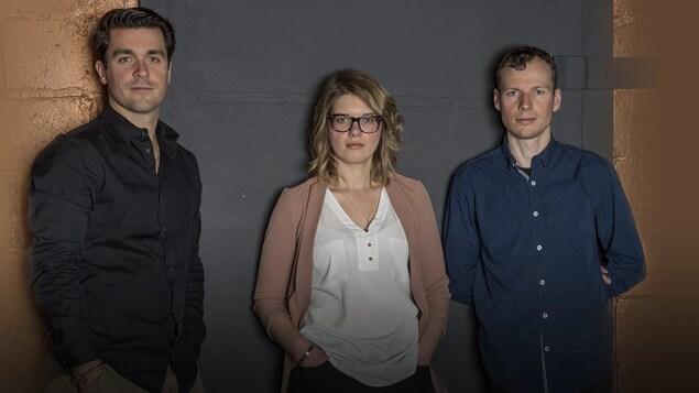 Dominic Cloutier, Emie Roussel et Nicolas Bédard