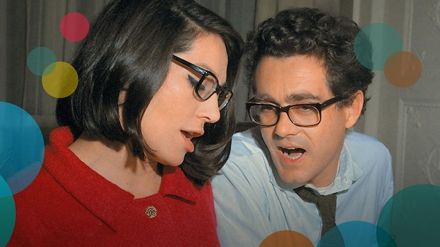 Une image de la pochette de l'album, où l'on voit une photo de Nana Mouskouri et Michel Legrand assis côte à côte en train de chanter.