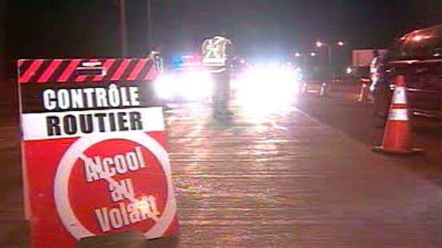 Un contrôle routier pour l'alcool au volant.