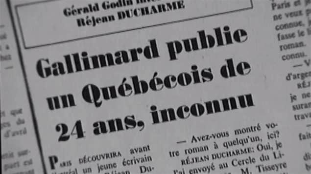 Un texte de Gérald Godin sur Réjean Ducharme