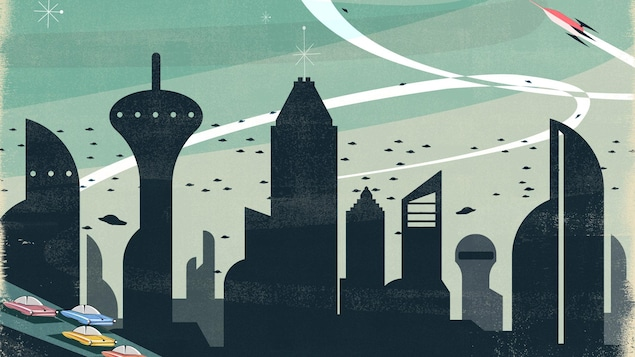 Illustration d'une ville du futur