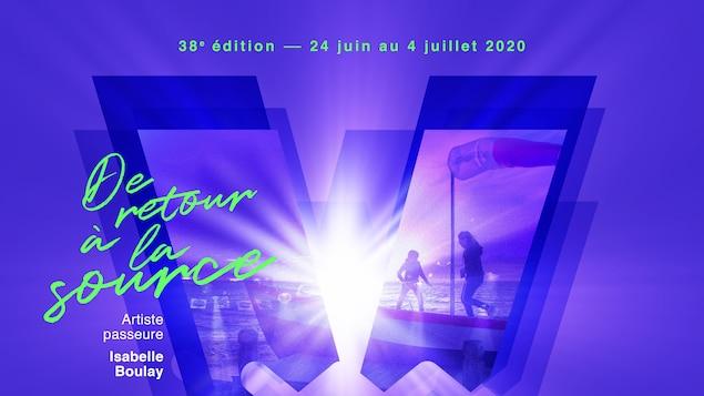 Affiche du Festival en chanson de Petite-Vallée  2020
