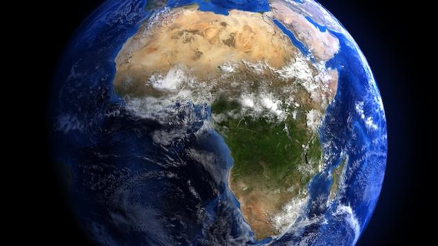 Le continent africain au centre de la Terre vue de l'espace