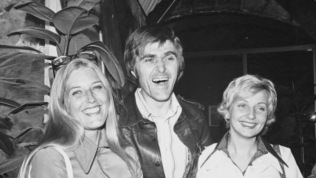 Alain Stanké en compagnie de Danielle Ouimet et France Castel en 1974.