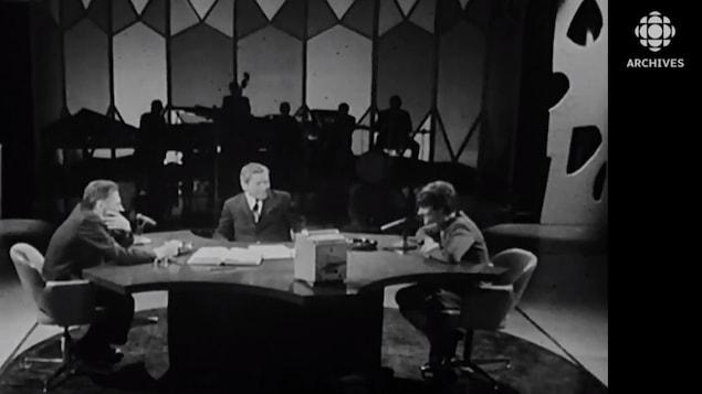 Alfred et Clémence DesRochers interviewés ensemble par Fernand Séguin à l'émission Le sel de la Terre. .
