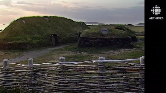 Vue de l'habitation de L'Anse aux Meadows
