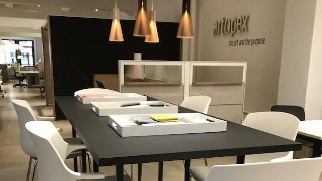 Salle de montre des meubles d'Artopex à New York