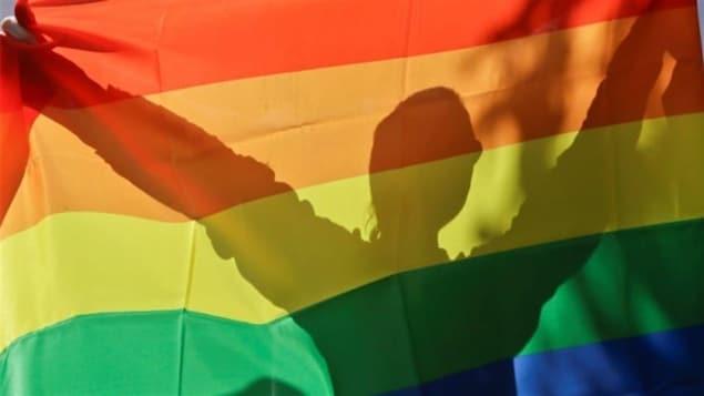Drapeau au couleurs de LGBTQ.