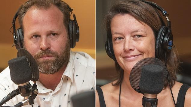 Hugo Meunier et Martine Bouliane au micro de Stéphan Bureau