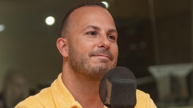 Yannick Nézet-Séguin au micro de Stéphan Bureau.