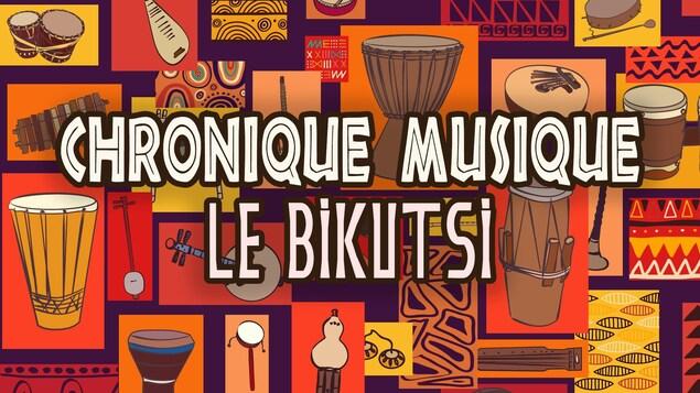 Illustrations d'instruments de musique africaine