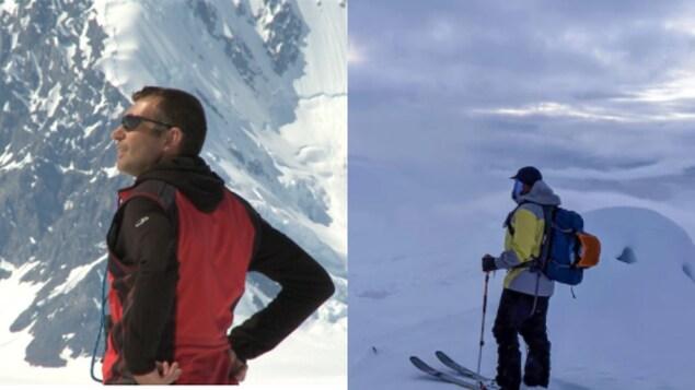 Claude Vallier et Martin Richard, deux skieurs hors piste au Yukon.