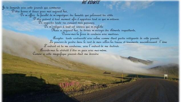 Un poème et une photo d'Yves Lafond, camionneur et écrivain dans le Grand Nord.