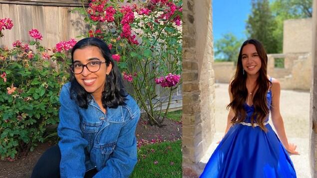 Aliyah Datoo et Alexa Harvey, récipiendaires de la bourse Jeunes Engagés.
