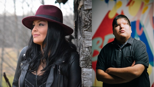 La chanteuse de blues Crystal Shawanda et l'artiste pop Mattmac.