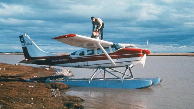 Dominique Prinet pilote de brousse dans le Grand Nord.