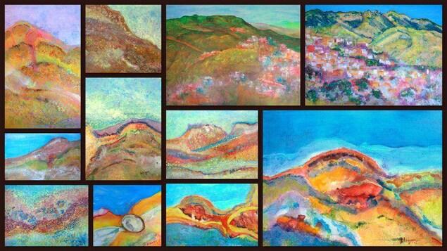 plusieures peintures impressionistes